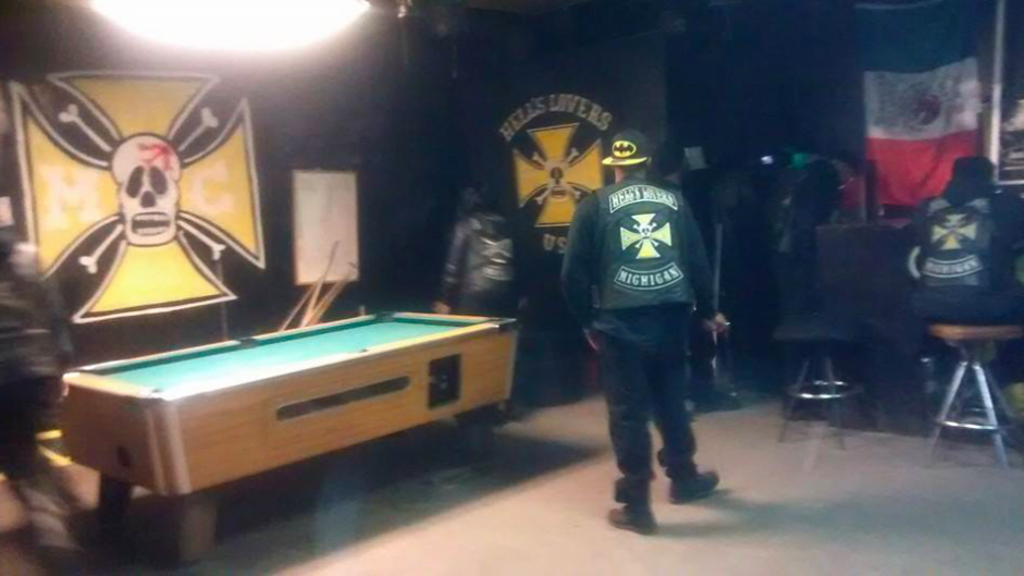 Hells Lovers MC Clubhouse Detroit Michigan Inside - One Percenter Bikers